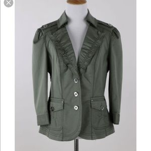WHBM Olive Green Utility Jacket